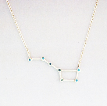 Small-Big-Dipper-Pendant-34MM-long-SS-pendant-7-2-MM-Swiss-Blue-Topaz-15-SS-chain-SS-lobster-claw-clasp-jump-ring